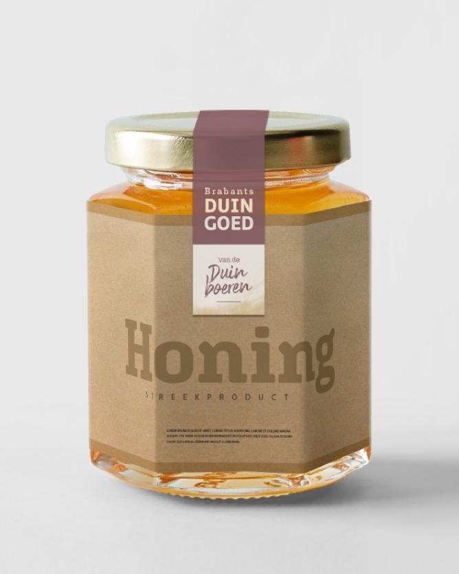 Duinboeren honing met label